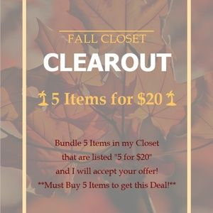 🌴5 Items for $20🌴 FALL CLOSET CLEAROUT